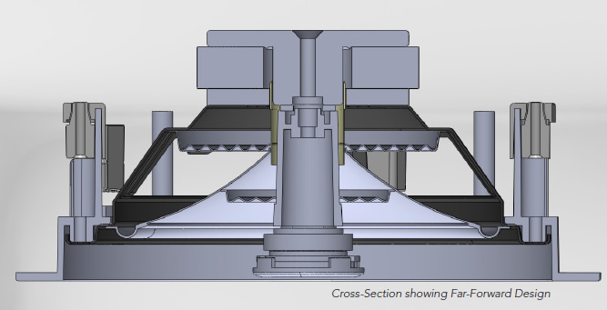 Frameless Speaker Cross-Section