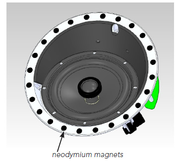 Frameless Speaker Neodymium Magnets